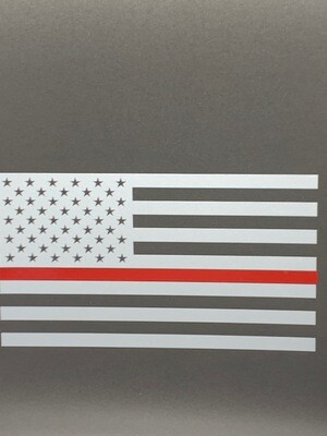 AP Red Line Flag Decal