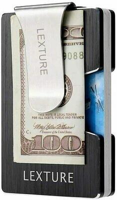 Aluminum RFID Wallet W/Money Clip