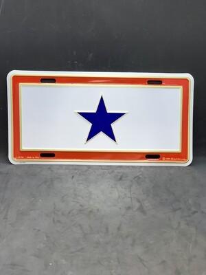 Blue Star License Plate
