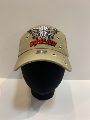 Patriotic Hats- Outlaw-Skull