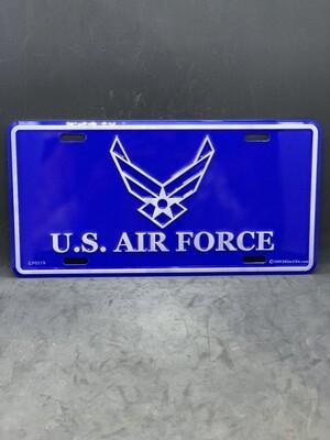 USAF Dark Blue License Plate