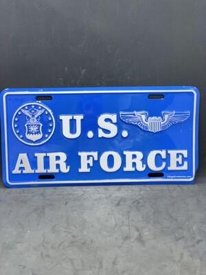 U.S. AF Light Blue License Plate