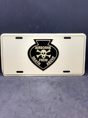 Airborne Death From Above License Plate