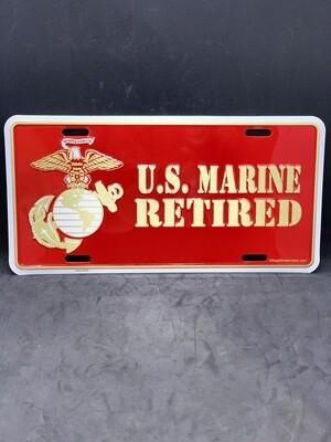 U.S. Marine Retired License Plate