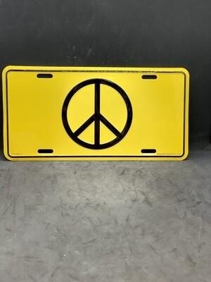 Peace License Plate