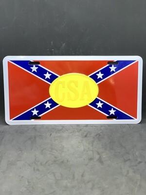 CSA License Plate