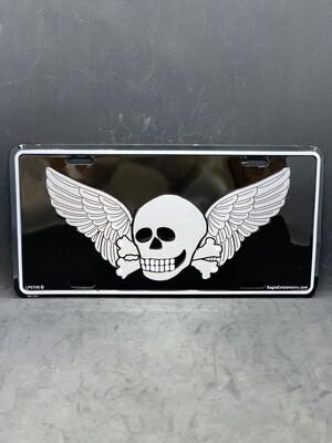 Skull/Wings License Plate