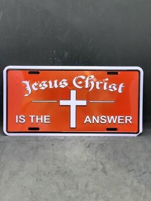 Jesus Christ License Plate