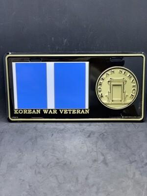 Korean War Vet. License Plate