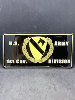 US 1st Can. Div. License Plate