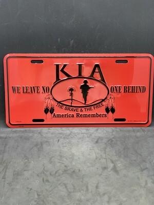 KIA License Plate