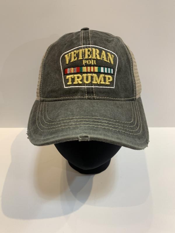Patriotic Hats Vet for Trump