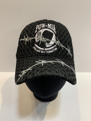 Patriotic Hats- Barb. Mesh POW/MIA