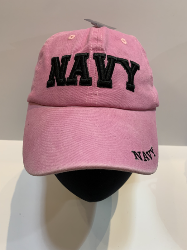 NAVY Hats PINK- Navy