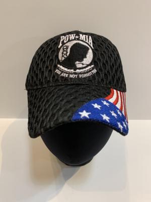 Patriotic Hats B-PowMIA/USA