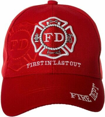 Patriotic Hats RED FD Hat