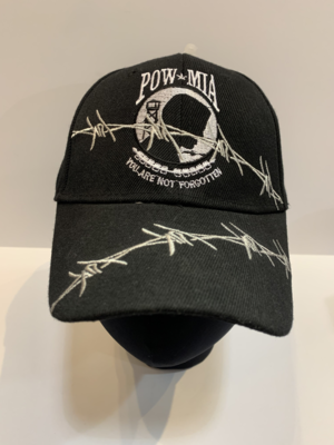 Patriotic Hats- Barb. POW/MIA