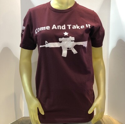 Come And Take It S/S Maroon