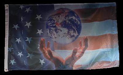 Flags 3X5 Patriotic World
