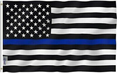 Flags 3X5 Blue Line w/us flag