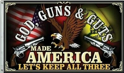 Flags 3X5 God/Gun/Guts