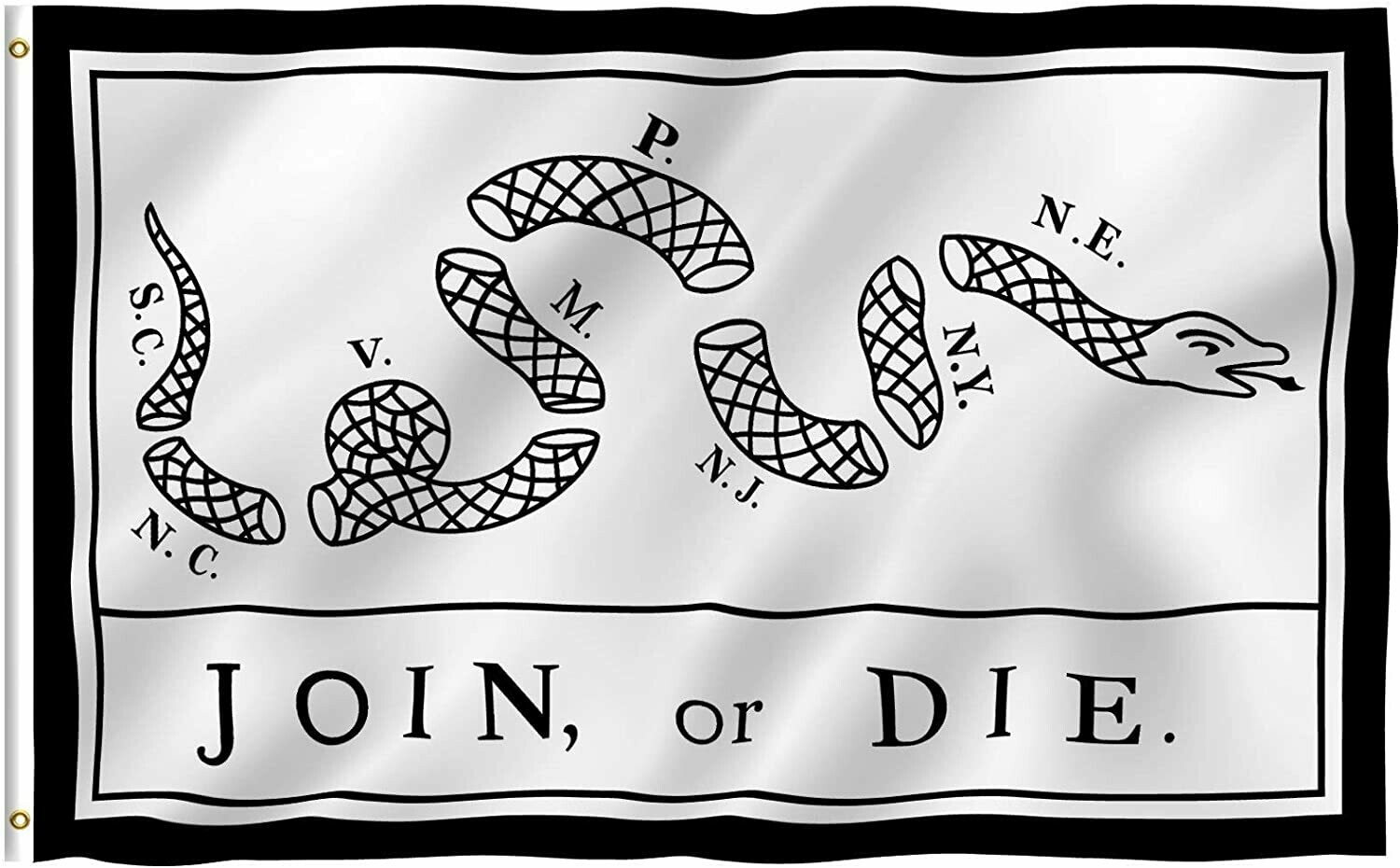 Flags 3X5 Join or Die White
