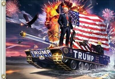 Flags 3X5 Trump Tank