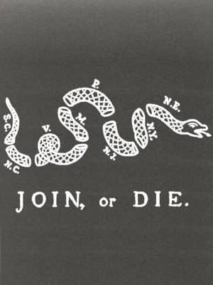 AP Join or Die Decal