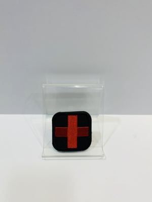 Medic Patches Black/Red Cross