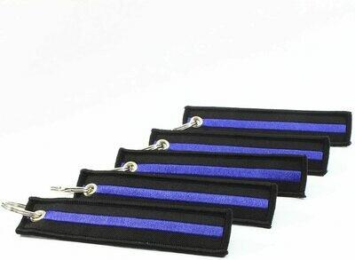 Police & Fire Items Key Chain Blue Line