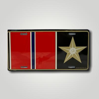 Bronze Star Metal License Plate