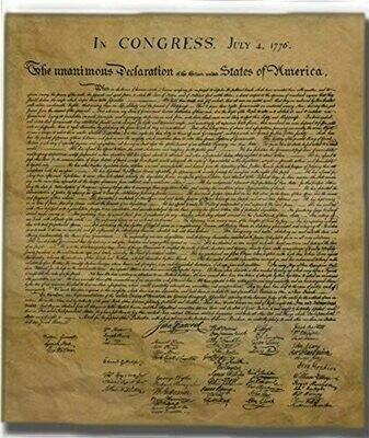 Historical Documents Declaration Of Independence