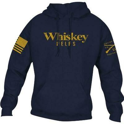 Whiskey Helps Hoodie Blue