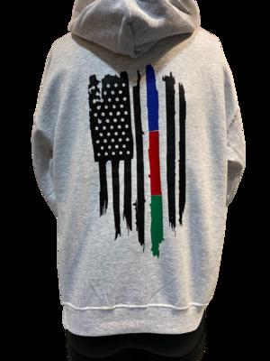 Multi-Line Grey Hoodie