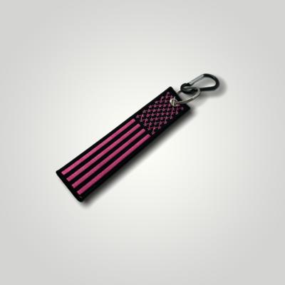 Pink Flag Key Chain