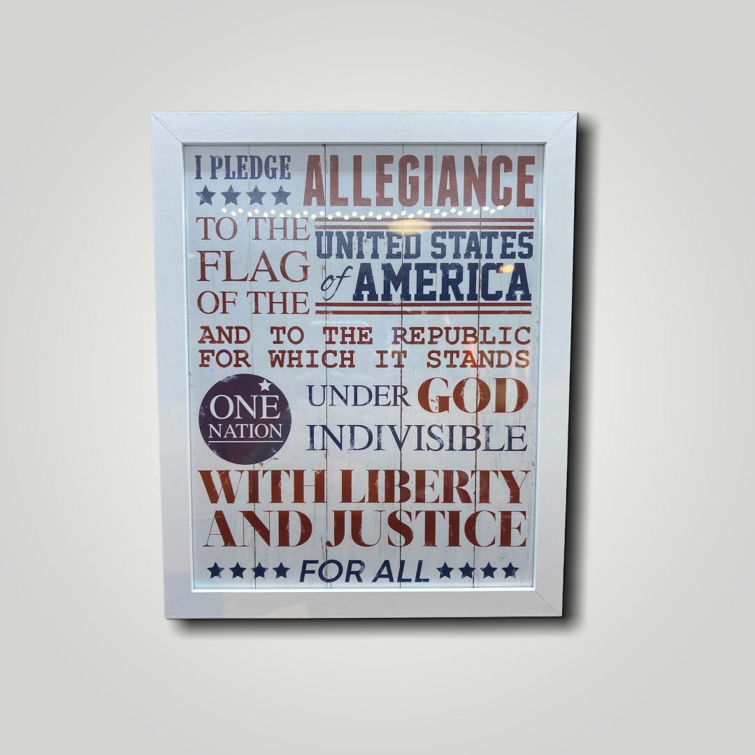 Framed Pledge of Allegiance