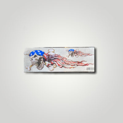 Lethal Threat Decals USA Skull Left