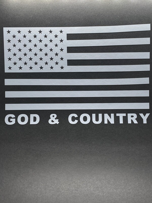 AP God & Country Decal