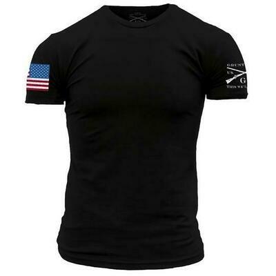 Full Color Flag S/S Black