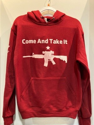 Come and Take It Hoodie Red