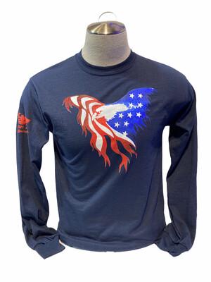USA Flag Eagle Shirt L/S