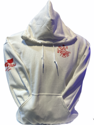 Red Line Hoodie White