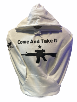 Come and Take It Hoodie White