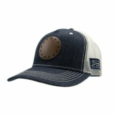 Betsy Ross Leather Patch Denim Hat