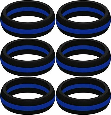 Rings Blue Line Silicone