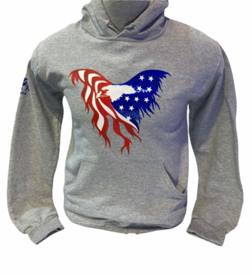 USA Flag Eagle Hoodie