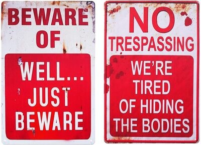 Metal Signs 8X12 Rusted