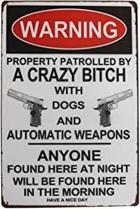 Metal Sign 9X11 Crazy Bitch