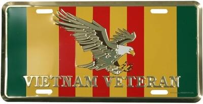 Vietnam Vet. Ribbon Color License Plate