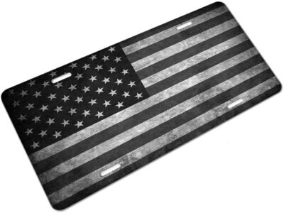 Black Flag License Plate